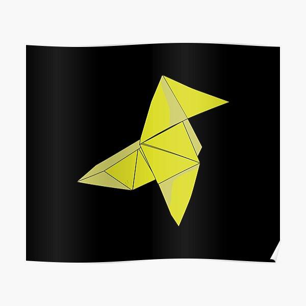 Money heist Yellow Origami Poster
