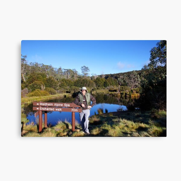 Beautiful Tasmania - Yours truly by the pond Canvas Print