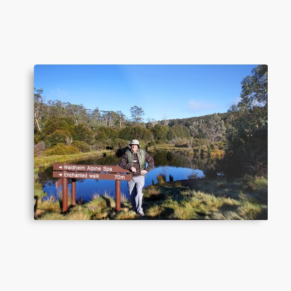 Beautiful Tasmania - Yours truly by the pond Metal Print