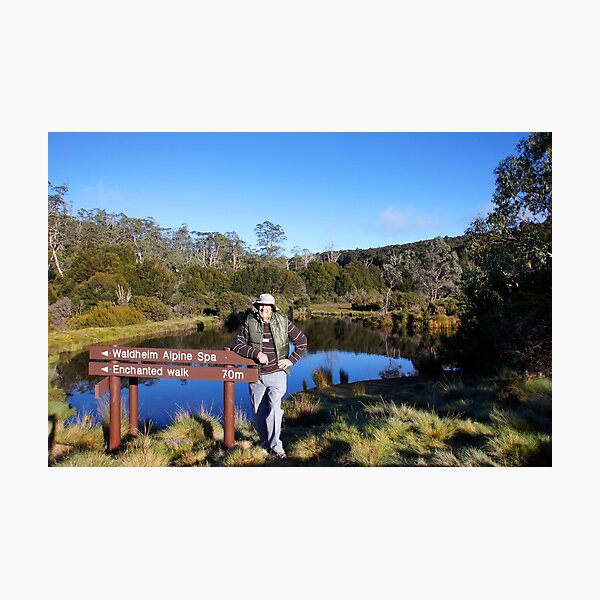 Beautiful Tasmania - Yours truly by the pond Photographic Print