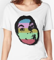 Stripy Face Women's Relaxed Fit T-Shirt