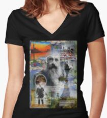 monet Women's Fitted V-Neck T-Shirt