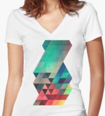 whw nyyds yt Women's Fitted V-Neck T-Shirt