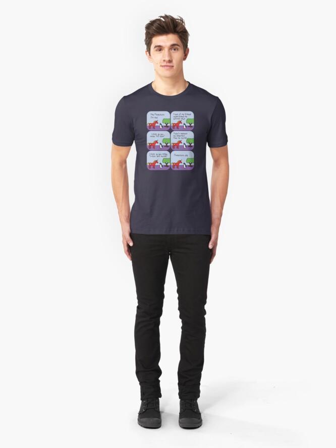 Alternative Ansicht von Communicorns Ausrichtung (Gehörnte Kriegerfreunde) Slim Fit T-Shirt