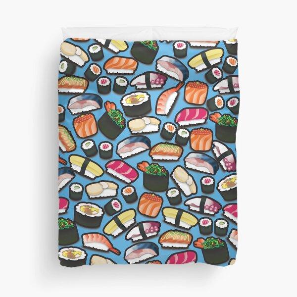 Blue Sushi Duvet Cover
