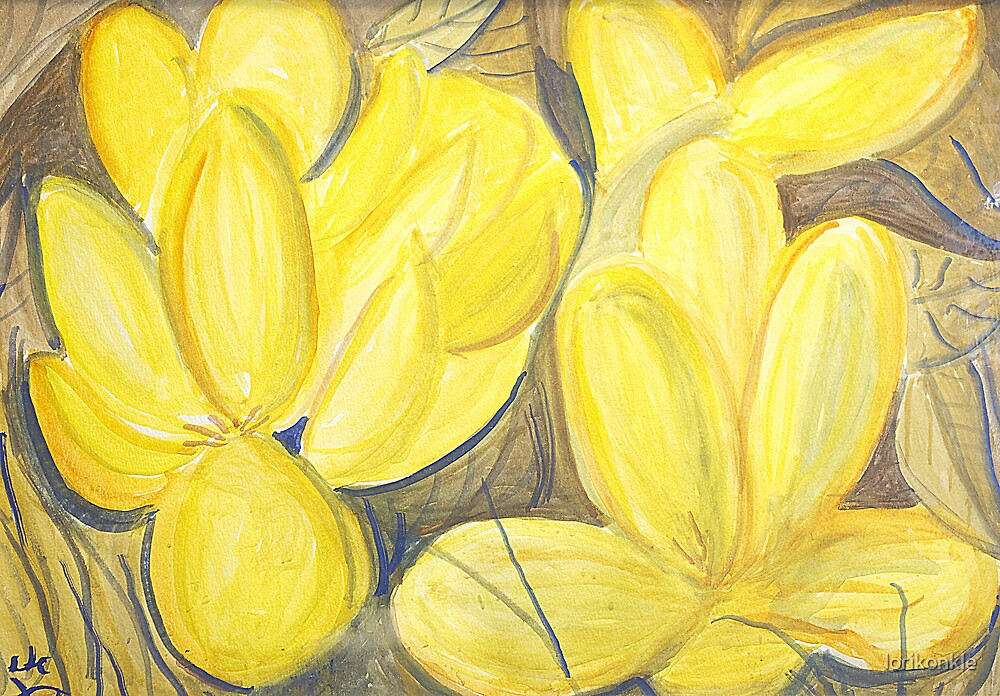 Yellow Flowers by lorikonkle