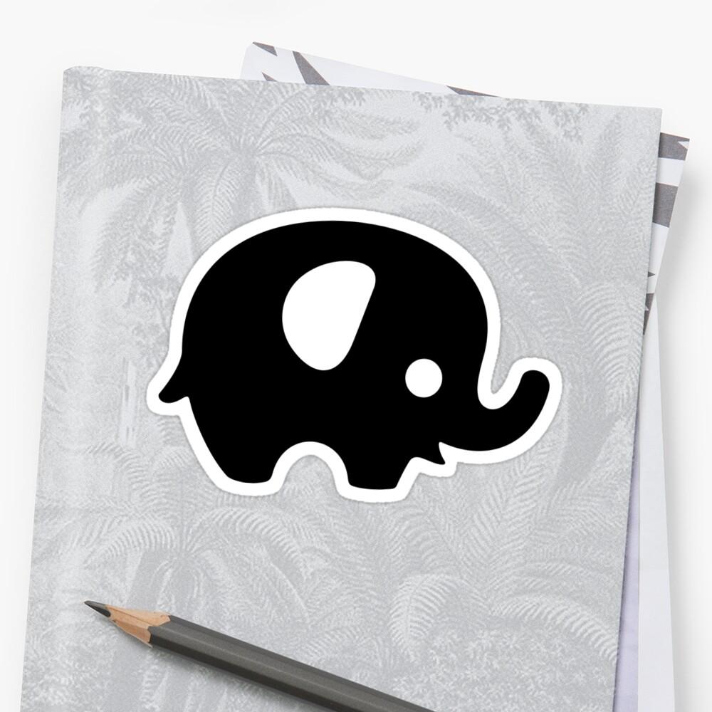 Baby Elephant - black by XOOXOO