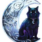 Celtic Black Cat by Brigid Ashwood