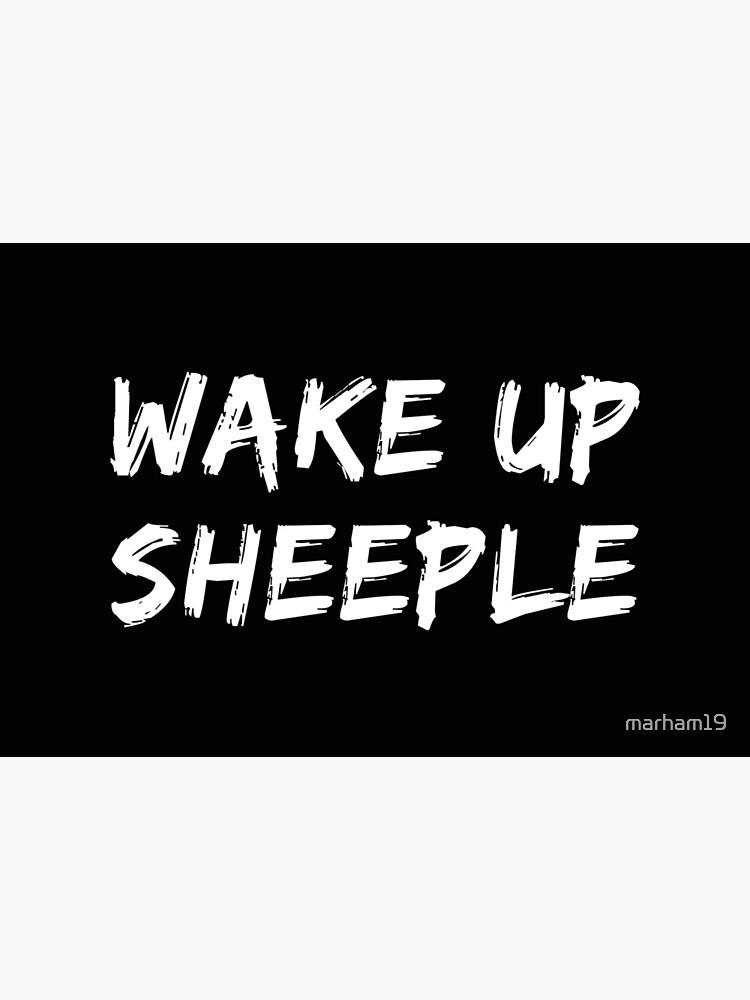 Wake Up Sheeple Funny Covid-19 Sheep Covid19 Coronavirus by marham19