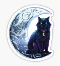 Celtic Black Cat Sticker