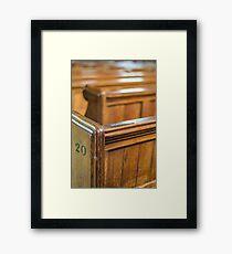 Church Pews Framed Print