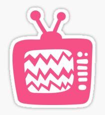 Vintage Pink Cartoon TV Sticker