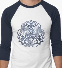 Raven Triskele Celtic Knotwork Men's Baseball ¾ T-Shirt