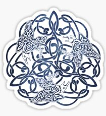 Raven Triskele Celtic Knotwork Sticker