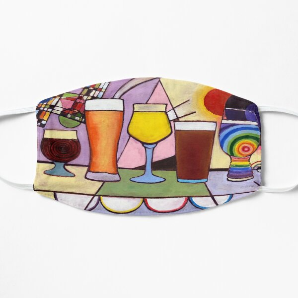 Beer Glasses Types for Different Styles Painting, Taproom Beer Wall Decor, Bar Alcohol Art, Abstract Craft Beer Art, Beer Pints Dorm Poster Flat Mask