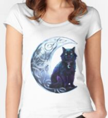 Celtic Black Cat Women's Fitted Scoop T-Shirt