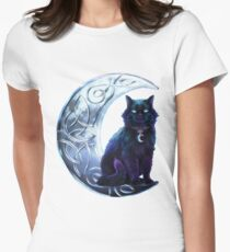 Celtic Black Cat Women's Fitted T-Shirt