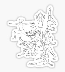 Yoga Asanas - drawing Sticker