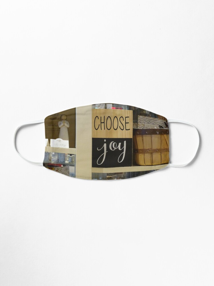 Alternate view of Choose Joy mask, Choose joy pin, Postive message  Mask