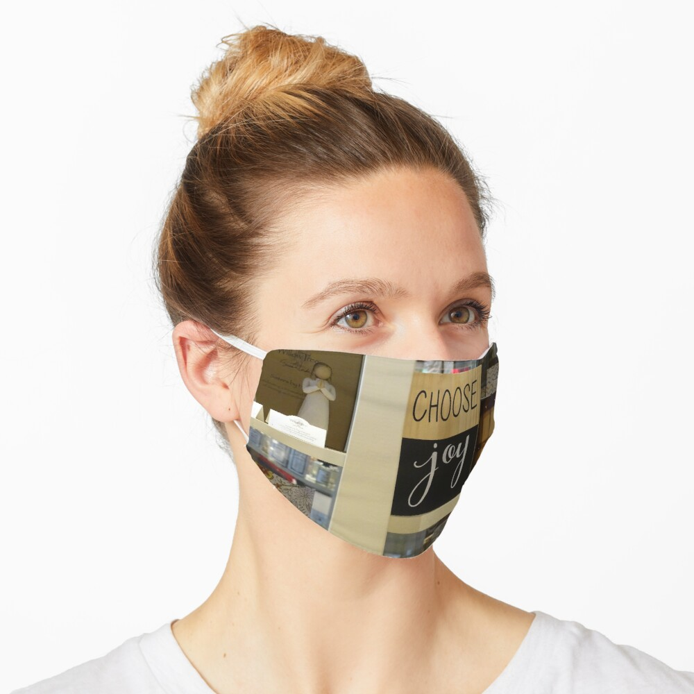 Choose Joy mask, Choose joy pin, Postive message  Mask