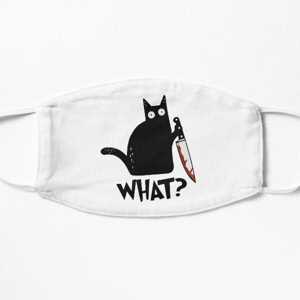 Katze was? Mörderische schwarze Katze mit Messer-Geschenk-Prämie T-Shirt Flache Maske