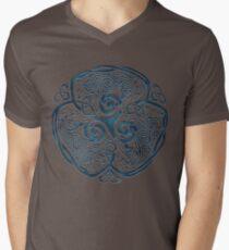 Wolf Celtic Knotwork Mens V-Neck T-Shirt