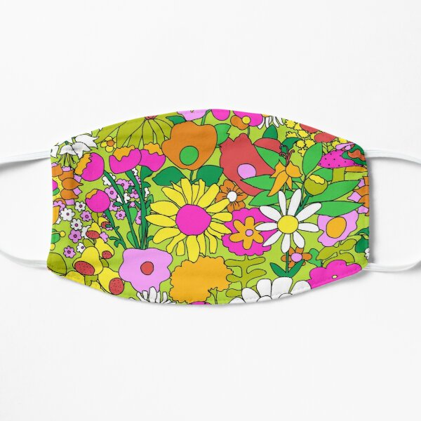 60's Groovy Garden in Lime Green Mask