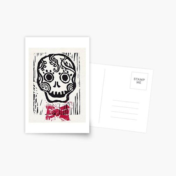 Dandy Skull with Bowtie Postcard