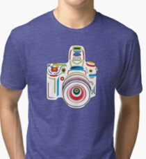 Rainbow Camera Fun Tri-blend T-Shirt