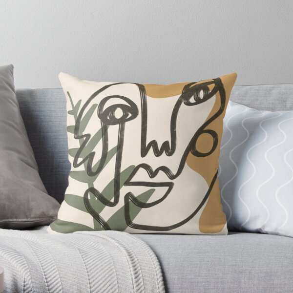 Abstract faces (#3) Throw Pillow