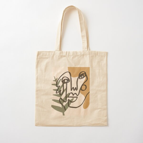 Abstract faces (#3) Cotton Tote Bag