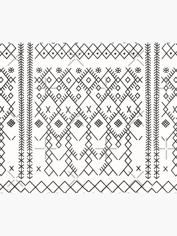 White Anthro Farmhouse & Rustic Boho White  Color Bereber Moroccan Artwork by Arteresting