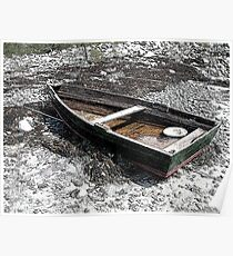 Distressed Dinghy, Rye, New Hampshire Poster