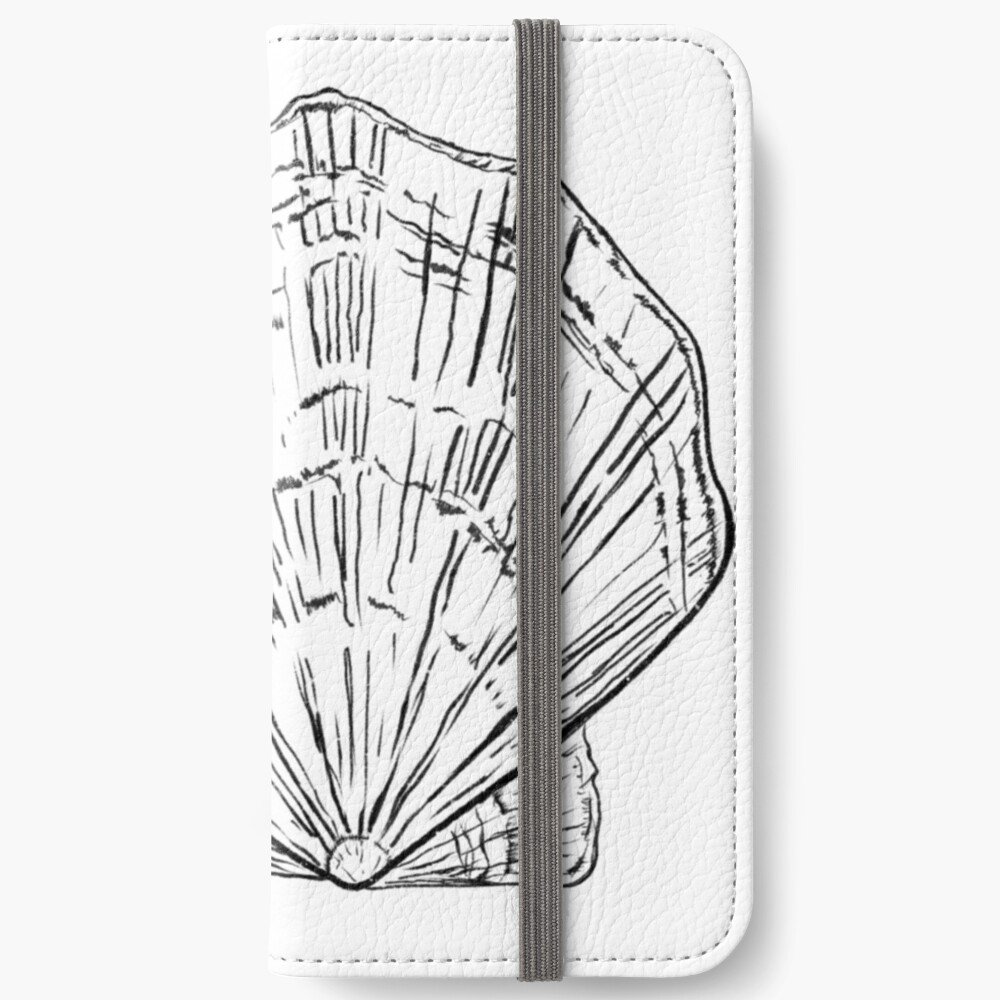 Seashell - black and white  iPhone Wallet