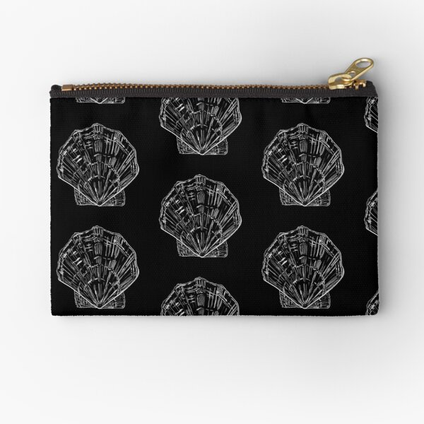 Seashell - black and white  Zipper Pouch