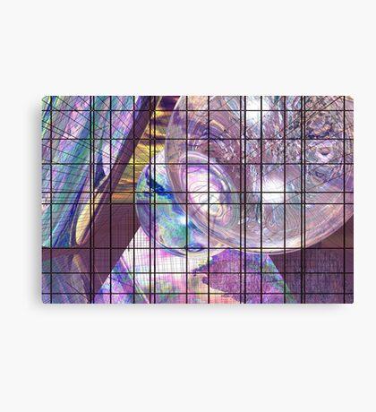 Gridline Worlds Canvas Print