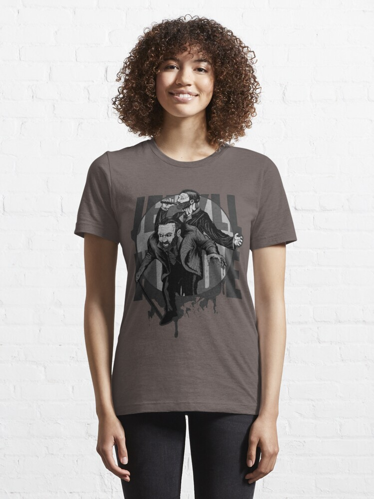 Alternate view of Jekyll & Hyde (gray) Essential T-Shirt