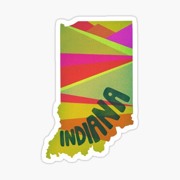 Retro Indiana Sticker