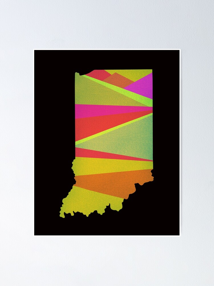 Alternate view of Retro Indiana Love Poster