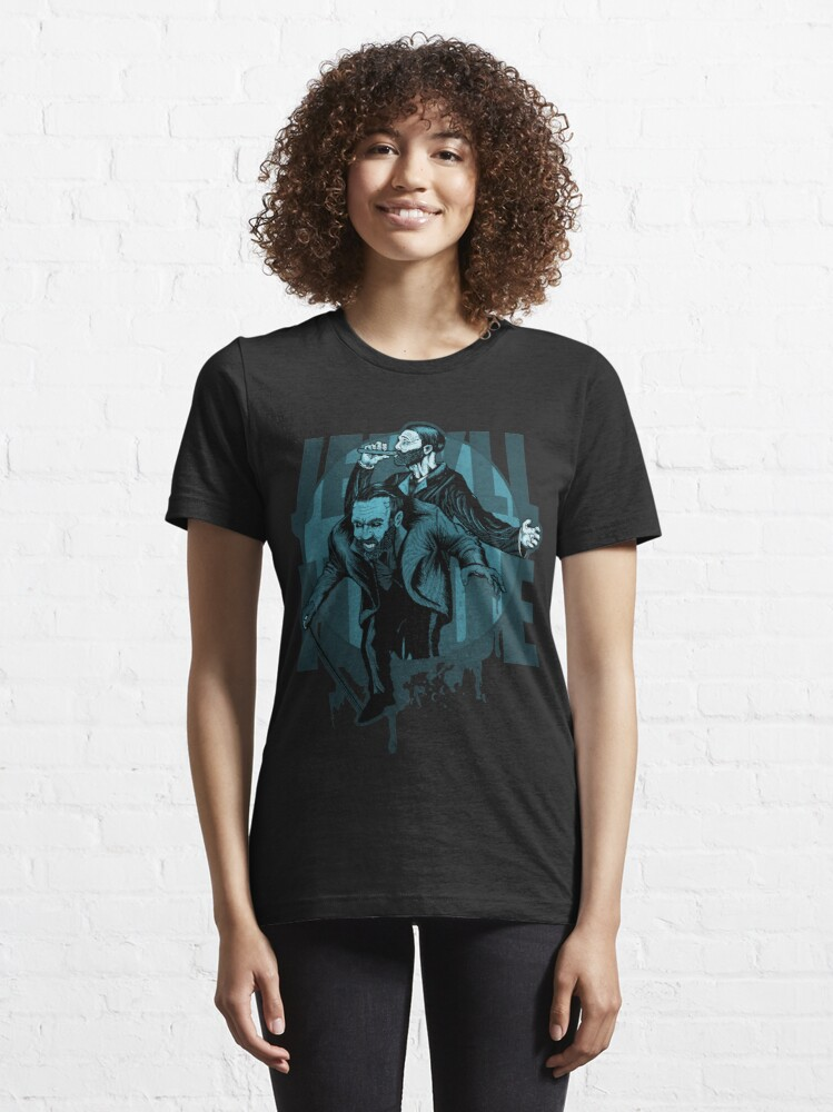 Alternate view of Jekyll & Hyde (blue) Essential T-Shirt