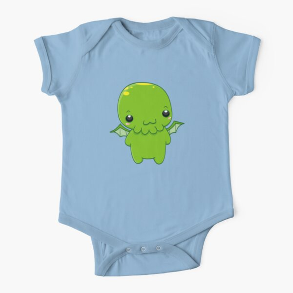 chibi cthulhu - the green monster Short Sleeve Baby One-Piece