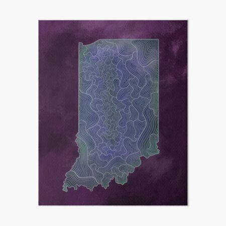 Purple Indiana Art Board Print
