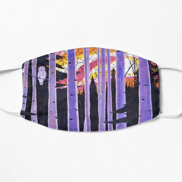 White Owl, Purple Birch Trees, Alaska Aspen Trees Forest, Sunset, Scott Clendaniel Mask