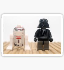Star wars action figure Darth Vader and R2D2  Sticker