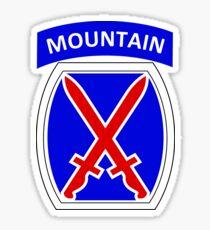 10th Mountain Division Logo Sticker