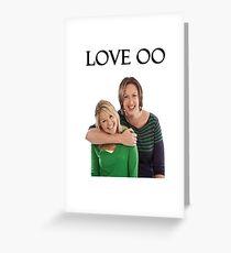 Miranda and Stevie - Love OO Greeting Card