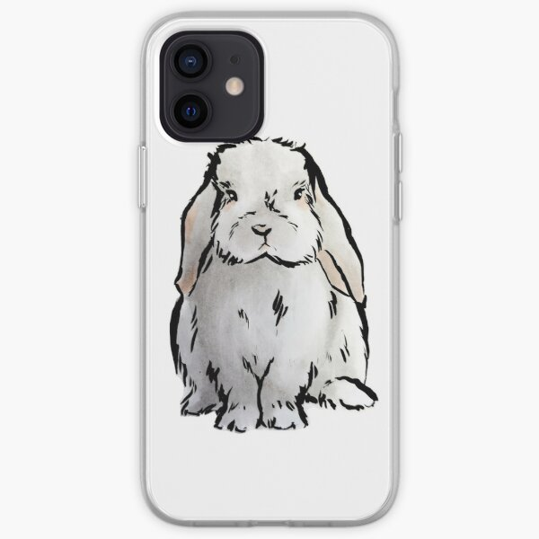 Lop eared bunny iPhone Soft Case