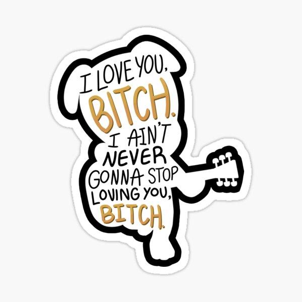 je t'aime, salope - k.k. autocollant de passage d'animaux curseur Sticker