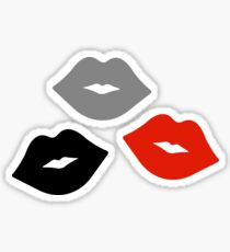 Red and Black Lips Pattern Sticker