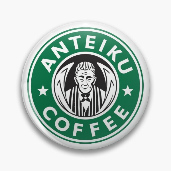 Anteiku Café Logo, Tokyo Ghoul Starbucks Parody - Yoshimura Version Pin